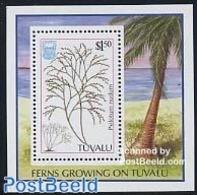 Tuvalu 1987 Ferns S/s, (Mint NH), Nature - Flowers & Plants - Tuvalu