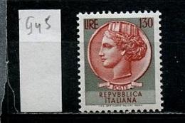 Italie - Italy - Italien 1966 Y&T N°945 - Michel N°1202 *** - 130l Monnaie Syracusaine - 6. 1946-.. Republik