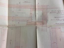 Plan D' Architecte :  Entrepôts à Charenton, 72x43 Cm (1ère Moitié Du Siècle Dernier) - Architecture