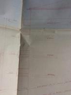 Plan D' Architecte :  103x67 Cm (1ère Moitié Du Siècle Dernier) - Architecture