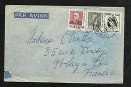 Lettre Par Avion De Rio De Janeiro 10/10/1968 Pour Sucy En Brize Les N° 818 ; 843 Et 844 B/TB - Cartas