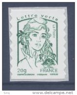 N° 858 Marianne Adhésif Année 2013, Valeur Faciale 20g Verte - Adhésifs (autocollants)