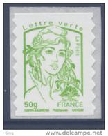 N° 859 Marianne Adhésif Année 2013, Valeur Faciale 50g Verte - France