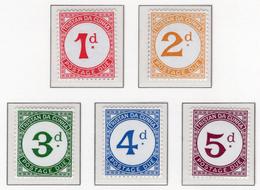 1957 - TRISTAN DA CUNHA - Yv.  Nr. Taxe 1/5 - NH - (UP131.11) - Tristan Da Cunha