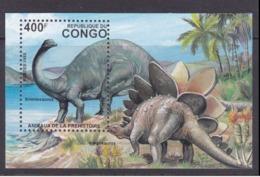 P.R Congo MNH Souvenir Sheet Prehistoric Dinosaur Scott 1048 - Stamps
