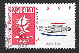FRANCE  2679 Jeux Olympiques D'hiver Albertville 92 Luge. - Oblitérés