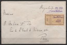 Inde Portugaise - L. Recommandée Affr.(verso) Càd LOUTULIM (Goa) /1.12.1931 Pour PARIS - Inde Portugaise