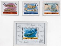 1988 - TRISTAN DA CUNHA - Yv.  Nr. 428/431 + BF 21 - NH - (UP131.11) - Tristan Da Cunha