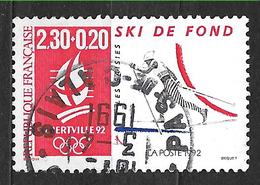 FRANCE  2678 Jeux Olympiques D'hiver Albertville 92 Ski De Fond . - Oblitérés