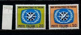 Italie - Italy - Italien 1967 Y&T N°985 à 986 - Michel N°1243 à 1244 *** - Année Du Tourisme - 6. 1946-.. Republik