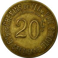 Monnaie, France, Cie. Des Chemins De Fer à Voie Etroite, St-Etienne, 20 - Monétaires / De Nécessité