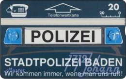 """TWK Österreich Privat: """"Stadtpolizei Baden"""" Gebr. - Oesterreich"""