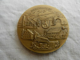 Médaille De Table En Bronze  Merzhausen-Wittnau 786-1986 - Allemagne