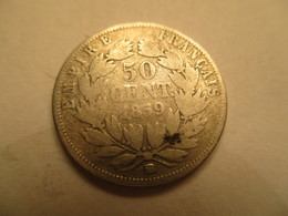 France: 50 Centimes 1859 BB - G. 50 Centimes