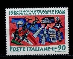 Italie - Italy - Italien 1968 Y&T N°1026 - Michel N°1287 Nsg - 90l V Veneto - 1946-.. République