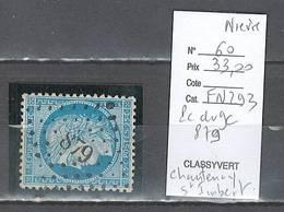 France  Obliteration  Petit Chiffre Du  Gros Chiffre 879 Chantenay D'Imbert Dans La Nièvre - Marcophilie (Timbres Détachés)