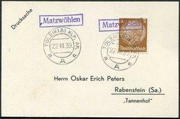 Memelland 1939 German Occupation Matzwöhlen TOLEIKIAI Pmk Card Lithuania Litauen Ostpreußen Memelgebiet East Prussia - Memelgebiet