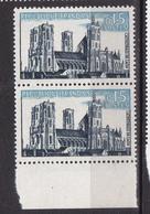 N° 1235 Série Touristique: Cathédrale De Laon: Une Paire De 2 Timbres  Neuf Impeccable - France