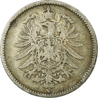 Monnaie, GERMANY - EMPIRE, Wilhelm I, Mark, 1882, Hambourg, TB, Argent, KM:7 - [ 2] 1871-1918: Deutsches Kaiserreich