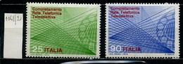 Italie - Italy - Italien 1970 Y&T N°1061 à 1062 - Michel N°1323 à 1324 *** - Système Téléphonique Télésélectif - 6. 1946-.. Republik