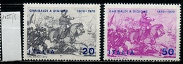 Italie - Italy - Italien 1970 Y&T N°1055 à 1056 - Michel N°1317 à 1318 *** - Guerre Franco Prusienne - 6. 1946-.. Republik