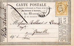 G.C.1193 COURTIVRON (20) Sur N° 55,carte Précurseur 29/9/75. - 1849-1876: Periodo Classico