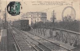 PARIS - Chemin De Fer Métropolitain - Ligne N°5, Etoile - Gare Du Nord - Tablier Du Viaduc Au-dessus De Lowendal - Arrondissement: 16