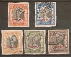 INDIA - JAIPUR 1936 - 1946 OFFICIALS  TO 8a SG O24/O26, O28, O29 FINE USED Cat £21+ - Jaipur