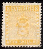 1855. Skilling Banco. ÅTTA (= 8) SKILL. Bco. Yellow. Reprint. (1885). Only Issued Aro... (Michel ND 4 IV) - JF100756 - Neufs
