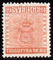 1855. Skilling Banco. TJUGUFYRA (= 24) SKILL. Bco. Orange Red. Reprint. (1885). Only ... (Michel ND 5 IV) - JF100757 - Neufs