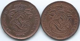Belgium - Leopold II -  2 Centimes - 1870 - KM35.1 (French) & 1902 - KM36 (Dutch) - 02. 2 Centimes