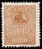 1862 - 1869. Lying Lion. 3 öre Bister Brown. Beautiful Clear Colour And Centering. Th... (Michel 14) - JF100774 - Neufs