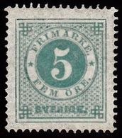 1872. Circle Type. Perf. 14. 5 øre Blue Green.  LUX. (Michel 19A) - JF100782 - Neufs