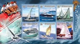 MVS-BK1-644+645 MSP MINT ¤ GUINEE 2010 KOMPL. SET  ¤  MARITIEM - SALLING & YACHTING  - SHIPS OVER THE WORLD - Maritiem