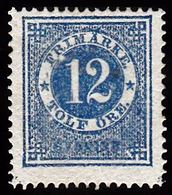 1872. Circle Type. Perf. 14. 12 øre Blue. Variety Facit 21v3. Beautiful Stamp. (Michel 21A) - JF100785 - Neufs