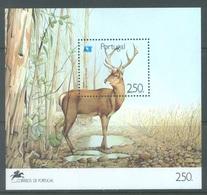 PORTUGAL - 1991 - MNH/*** LUXE - CERF ROTHIRSCH  - Mi  BLOCK 77 Yv  BLOC 78 - Lot 19412 - Blocs-feuillets