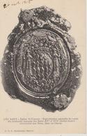 19 / 4 /180   - LES  BAUX - ( 13 ) ÉGLISE ST. VINCENT - REPRODUCTION AGRENDIE  DU  SCEAU  DES  GRIMALDI - Les-Baux-de-Provence