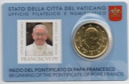 2013 VATICANO - PONTIFICATO PAPA FRANCESCO - STAMP&COIN CARD N. 3 - 4 - Vatican