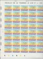 Faciale 19.05 Eur ; Feuille De 50 Tbs à 2.50 Fr N° 2760 (cote 60 Euros) - Ganze Bögen