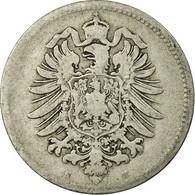 Monnaie, GERMANY - EMPIRE, Wilhelm I, Mark, 1880, Darmstadt, TB, Argent, KM:7 - [ 2] 1871-1918: Deutsches Kaiserreich