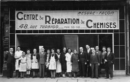 ¤¤  -  PARIS   -  Carte-Photo  -  Centre De Réparation De Chemine , 48 Rue Turbigo  -  Le Personnel  -  ¤¤ - Arrondissement: 03