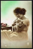 FEMME - CP - Jeune Femme Avec Chat - Circulé - Circulated - Gelaufen - 1922. - Femmes