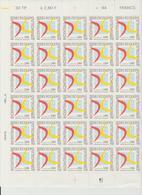 Faciale 12.80 Eur ; Feuille De 30 Tbs à 2.80 Fr N° 2862 (cote 39 Euros) - Full Sheets