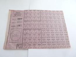 Ticket De Rationnement 1939 1945 -  Feuille Secondaire  De Tickets  Serie No 100  Categorie  V - 1939-45