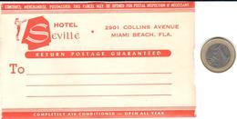 ETIQUETA DE HOTEL  - HOTEL SEVILLA  -MIAMI BEACH -FLORIDA - Hotel Labels