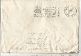 Slovenia Ljubljana Flam PRIDITE NA I. MEDNARODNO RAZSTAVO VIN 3.-11.IX. LJUBLJANA 1955 - Lettres & Documents