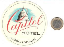 ETIQUETA DE HOTEL  - CAPITAL HOTEL  -LISBOA  -PORTUGAL - Hotel Labels