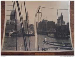 PHOTO RARE NEW YORK ORIGINALE PRISE D UN BATEAUX ON VOIT LES TOURS - Photos