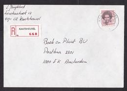 Netherlands: Registered Cover, 1985, 1 Roll Stamp, Struycken, R-label Kaatsheuvel (traces Of Use) - 1980-... (Beatrix)