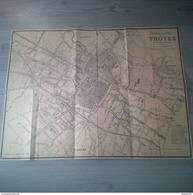 CARTE PLAN DE LA VILLE DE TROYES PAR LOUIS DERNY SOUS CHEF DE BUREAU AUX CHEMINS DE FER DE L EST - Carte Geographique